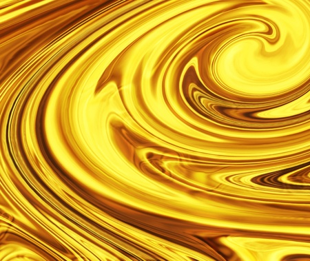 gold swirl: liquid gold or oil or yellow fluid - full screen