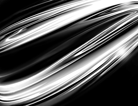 heavy metals: black and white chrome - an abstract monochrome technological background Stock Photo