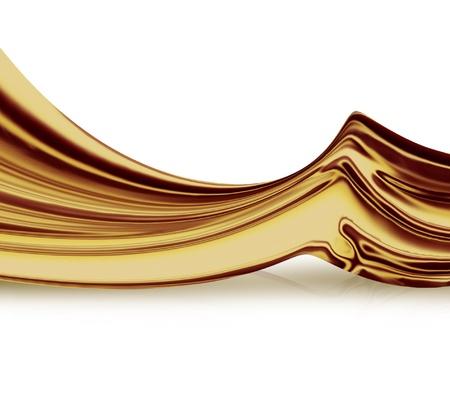 caramel: liquid gold on white - elegant background