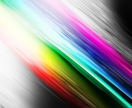 abstract gray background with rainbow stripes photo