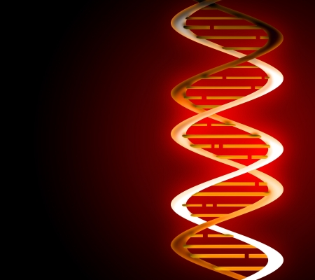 researches: DNA strands on abstract medical background