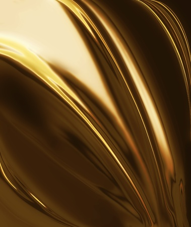 golden silk - elegant abstract background with smooth lines photo