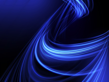 blue glowing lines on a dark background photo