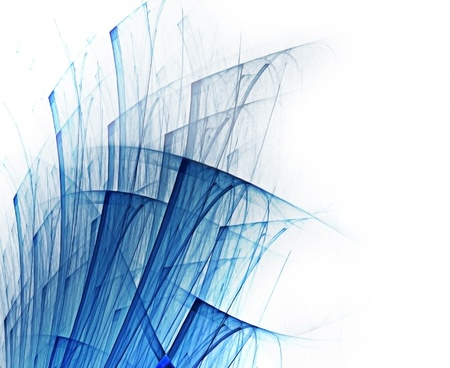 clutter: abstract background with blue lines on white paper