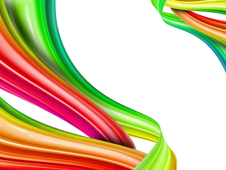 abstract rainbow knot on a white background photo