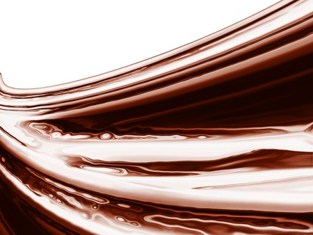 fluids: wave of chocolate and milk a close up Stock Photo