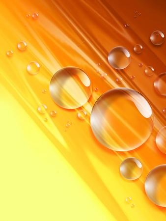 gouttes de jus d'orange sur un fond jaune