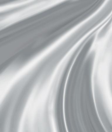 silk screen: folds of silver silk, close-up full screen Stock Photo
