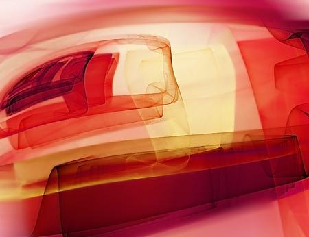 pinturas abstractas: fondo de arte abstracto con las diferentes l�neas y los cuadrados sobre un fondo rosa Foto de archivo