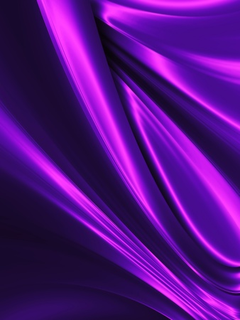 wave of purple silk close up - abstract background