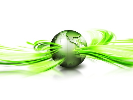 environment geography: abstract image concept environmental with a green planet