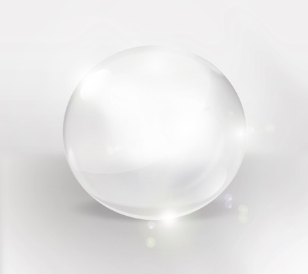 empty glass ball on a light background Stock Photo - 12772072