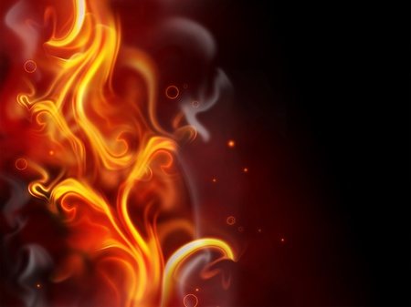red smoke: abstract fire background with flames sparks and smoke