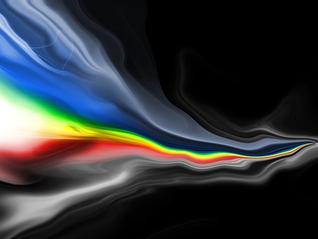 glowing rainbow stripes on a dark background Stock Photo - 13011717