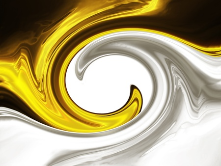 gold and silver waves on a white background photo