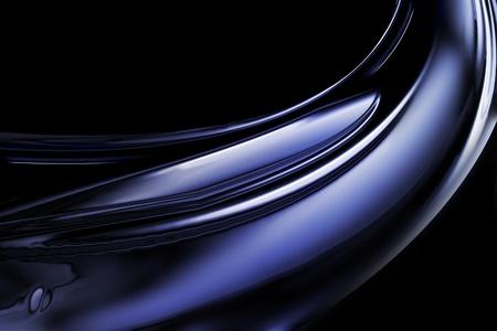 хром: абстрактного фона с синей волной хром