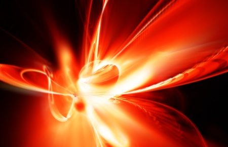 colores calidos: resumen de una explosión hermosa de fuego sobre un fondo oscuro