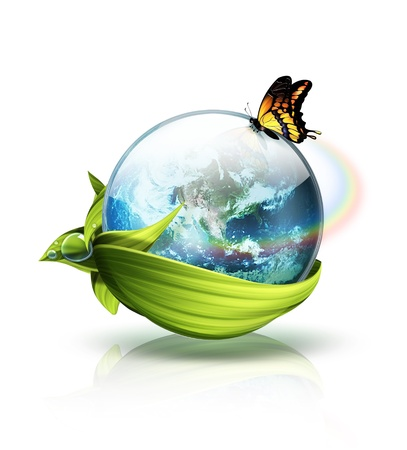 environmental awareness: symbol of the planet environment - a concept image