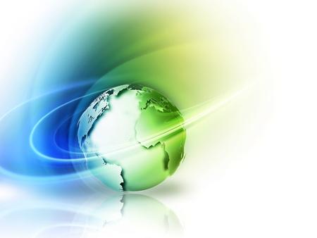 green planet: concept d'image abstraite de l'environnement avec une plan�te verte