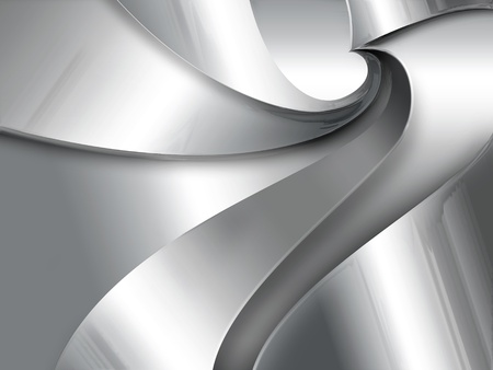 silver background: Industrial abstract background with a metal spiral