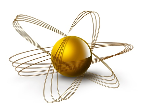 science symbol with abstract atom on a white background Stock Photo - 14666837