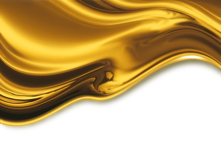 liquid gold - abstract design or art element for your projects Banco de Imagens