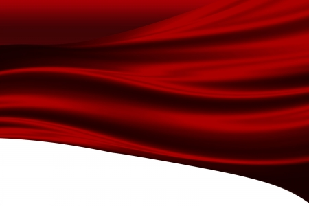 silk: red cloth on a white background
