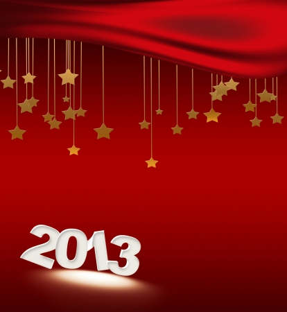 2013 figures on the Christmas background with stars Stock Photo - 14841913