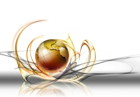 Abstract business background with world globe Stock Photo - 14841909