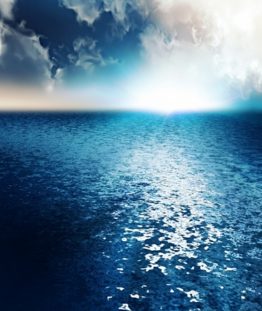 sunrise over the ocean - computer generated