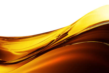 Oil Wave on a white background Stock Photo