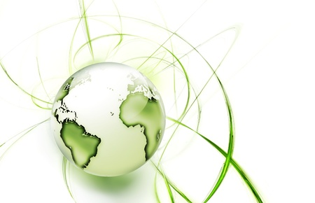 natural resources: abstract image concept environmental with a green planet