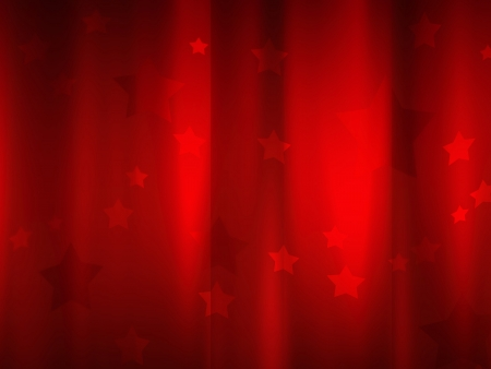 beautiful red curtain with stars photo
