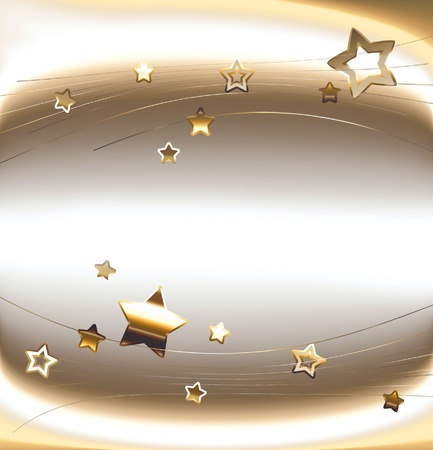 scheda di vacanza con stelle dorate