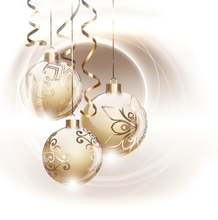 christmas holiday background: Golden Christmas card