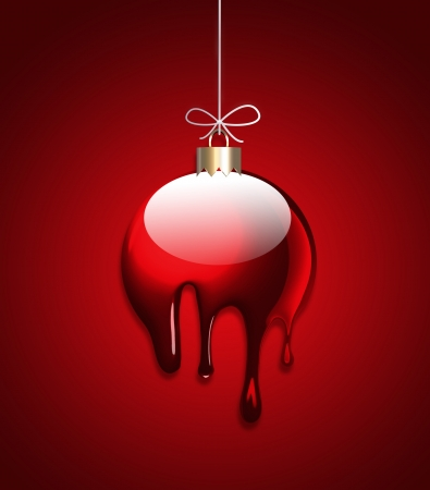 Creative Christmas ball with liquid effect Stock Photo - 15977384