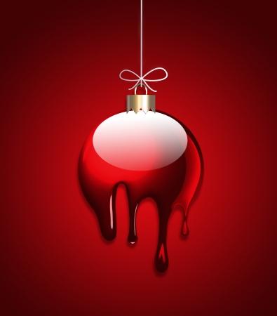 Creative Christmas ball with liquid effect Stock Photo - 15977384