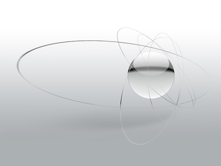 Science simple background with an abstract atom photo