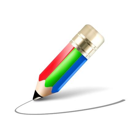 rgb: RGB pencil - concept image