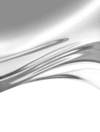 satiny: silver satin fabric as background Stock Photo
