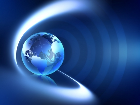 Abstract business background with world globe