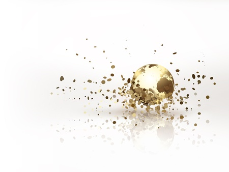 the miracle: golden world with burst effect