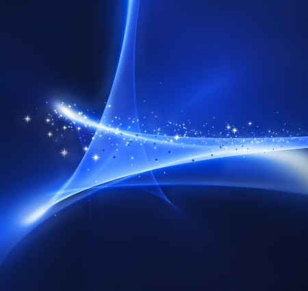 Magic abstract blue background with a star