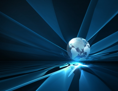 abstract technology background with the planet Stock Photo - 16521255