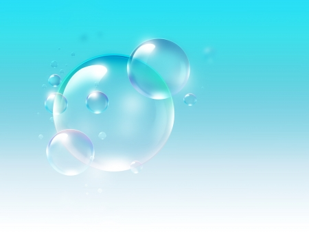 air bubbles on a light blue background photo
