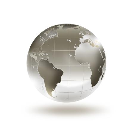 metaal: metal wereld op een witte achtergrond