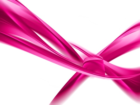 pink ribbons: abstract pink ribbons on a white background