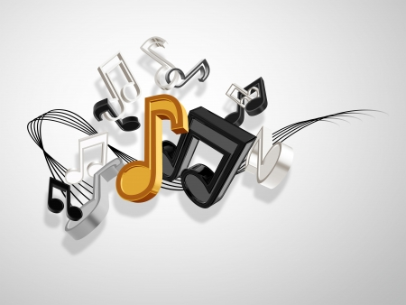 abstract music background with notes Stock Photo - 17309183