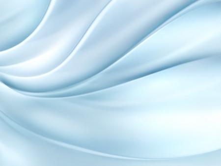 satiny cloth: light blue fabric - full screen background Stock Photo
