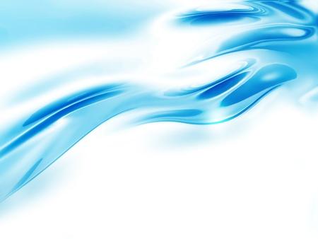 abstracte golf van water op een witte achtergrond Stockfoto
